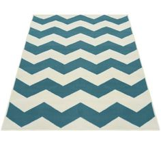 Buy Chevron Rug - - Teal at Argos. Thousands of products for same day delivery or fast store collection. Teal Rug, Teal Area Rug, Rugs And Mats, Striped Rug, Vintage Room, Home Decor Online, White Rug