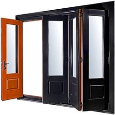 """New style of """"bi-fold"""" doors from LePage Millwork available in Halifax at Nova Windows and Doors."""