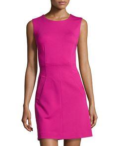 DIANE VON FURSTENBERG Round-Neck Mini Dress, Pink Dhalia. #dianevonfurstenberg #cloth #dress