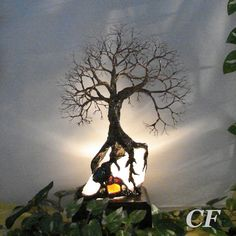 9 inch Wire Tree Of Life sculpture Ancient by CrowsFeathers SOLD