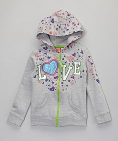 This easy-to-zip hoodie is crafted from cozy cotton and has been updated with a bold graphic and front pockets for tiny treasures. This product cannot be shipped to New York or Wisconsin