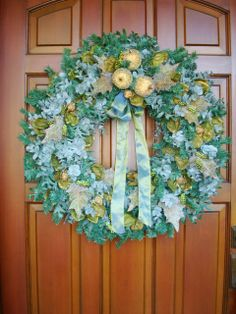 Frosted Green Apple with Pale Teal Eucalyptus by julielaplant, $169.00