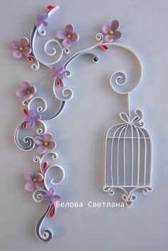 *QUILLING ~ Hamster Challenge: Quilling-reference number 11 - Pastel colors Más