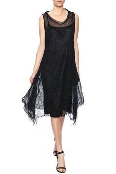 Black tulle dress with satin like slip. Features a midi length hem and a round neckline.   Black Tulle Dress by Scarborough Fair. Clothing - Dresses - Midi Saint Paul, Minnesota