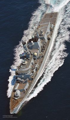 Type 23 frigate HMS Monmouth on patrol.