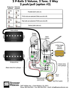 seymour duncan wiring diagram 2 triple shots 2 humbuckers 2 vol rh pinterest com 3 humbucker guitar wiring diagrams guitar humbucker wiring diagram