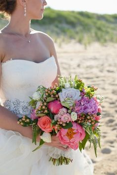 pink blue bridal bouquet - Google Search