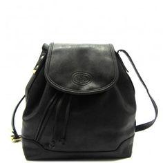 Zwart 90s vintage schoudertas met schuine rits voorop