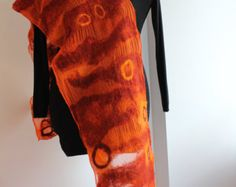 Schal Wolle auf chiffon Seide gefilzt von HomeMadeFeltDesign