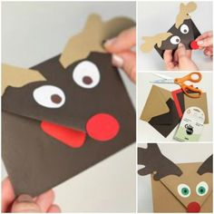 DIY rudolph envelope for gift cards/certificates/tickets, cards, or whatever