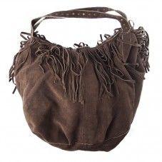 1573a3acd23 Suède tas met franjes. De hengsels zijn versierd met kleine studs/drukkers.  Geweldige