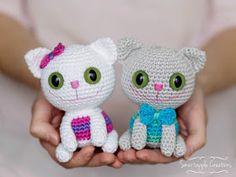 Smartapple Creations - amigurumi and crochet: Free crochet pattern - Cheeky Kitty, cat, #haken, gratis patroon (Engels), poes, kat, knuffel, speelgoed