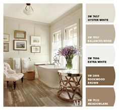 oyster white SW 7637 - greyish brownish beige - DW white