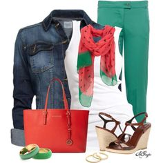 """""""Watermelon, anyone?"""" by kginger on Polyvore"""