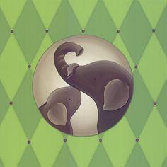 Mommy and Baby Elephant Canvas Elephant Canvas, Baby Elephant, Cartoon Photo, Winter Sale, Baby Boy Nurseries, Paint Designs, Animal Paintings, Sea Creatures, Cool Tattoos