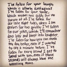 And I keep falling harder every day
