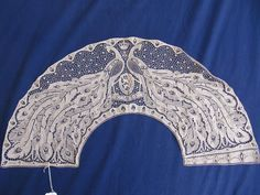 An Extremely RARE Belgian War Lace Fan Leaf in The Art Nouveau Style 1916 | eBay
