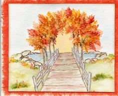 Pathway. Sells for 11.99. Sold separately are the pond, leaves, & grass.  Made by:Art Impressions rubber stamps You can purchase these from my ebay store: Pat's Rubber Stamps & Scrapbooks, Click on the picture & see the listing , or call me 423-357-4334 with order, We take PayPal. You get FREE SHIPPING ON PHONE ORDERS of $30.00 or more. If it says sold I have more. Use my search engine to find the items you are interested in my store.