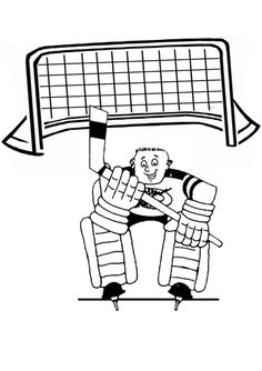 Hockey goalie coloring pages detroit red wings ~ 1000+ images about Zach colouring pages on Pinterest ...