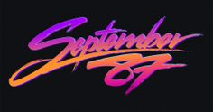 bloodnchrome: Logo for synthwave artist 'September 87′, you can check out his tunes here: https://soundcloud.com/september-87