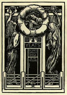 Bookplate of W B Yeats, Irish poet and playwright