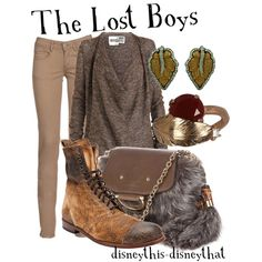The Lost Boys by disneythis-disneythat on Polyvore featuring Rogan, Becca Moon, Gucci, Iosselliani and CIMARRON