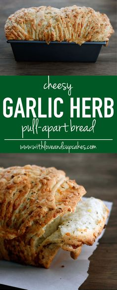 cheesy garlic herb pull-apart bread   withloveandcupcakes.com