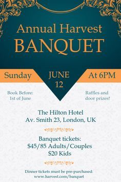 Customize This Design With Your Video Photos And Text Easy To Use Online Tools With Thousands Of Stock Photos Cl Invitation Template Poster Template Banquet