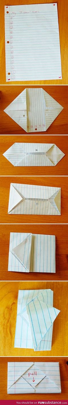 How to fold an envelope from rectangular paper