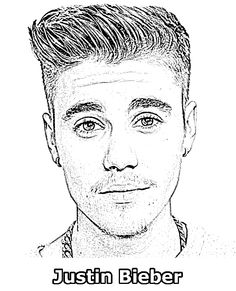 Selena Gomez Printable Coloring Sheet Celebrities Coloring Justin Bieber Coloring Pages