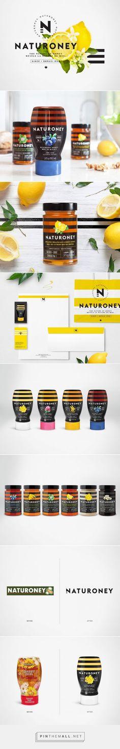 Naturoney honey packaging design by lg2boutique - http://www.packagingoftheworld.com/2016/12/naturoney.html: