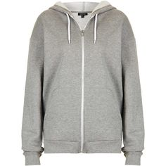 TOPSHOP Oversize Hoody ($20) ❤ liked on Polyvore featuring jackets, outerwear, hoodies, tops, sweaters, grey and topshop