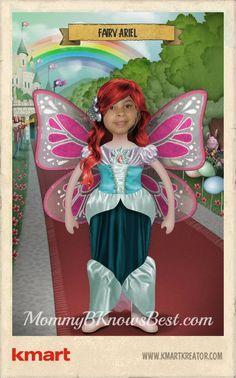 Miss A using the Halloween Costumizer from Kmart #kmartkreator #kostumekreator #spon