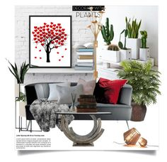 """Plants and Planters"" by ildiko-olsa ❤ liked on Polyvore featuring interior, interiors, interior design, home, home decor, interior decorating, Nearly Natural, Kate Spade, MOROSO and plants"
