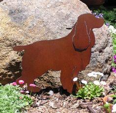 Rusty Finish Cocker Spaniel Metal Garden Art Yard by MountainIron, $36.99