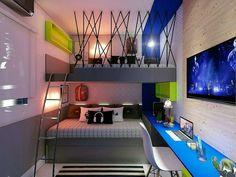 Interior Design and Home Decor Ideas Home Room Design, Kids Room Design, Master Bedroom Design, Kids Bedroom, Bedroom Decor, House Design, Awesome Bedrooms, Cool Rooms, Room Setup