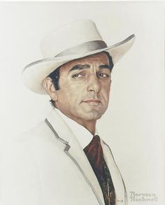 Mike Connors as Hatfield Gambler (1966) by Norman Rockwell for the movie Stagecoach