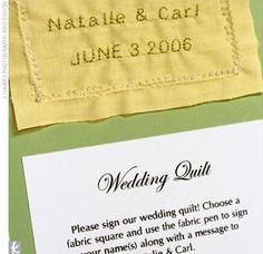 Guest book: Wedding quilt.