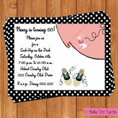 50's Sock Hop Adult Birthday InvitationsABI145DIY by BellaChiCards, $9.00