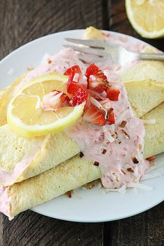 Lemon Crepes with St