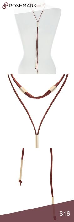 """Trendy Gold Accented Suede Layered Choker Necklace This faux suede layered choker comes in a red wine, featuring gold finished accents. Approximately 13"""" long with a 3"""" extender and lobster claw clasp closure.Theperfect edition for stylish everyday look. Jewelry Necklaces"""