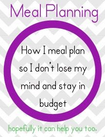 How to menu plan to make your week run more smoothly, stay on budget, and stay sane {or, mostly sane}. #pullingcurls