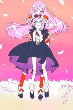 Utena and her younger self Girls Series, Animated Cartoons, Anime Figures, Magical Girl, Revolutionary Girl Utena, Anime Was A Mistake, Anime Style, Manga Art, Fate Zero
