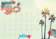 imprimible: calendario de julio | milowcost♥