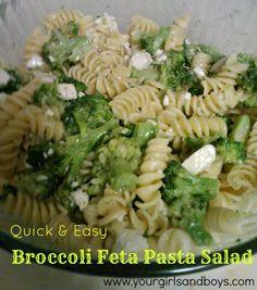 Quick and Easy Broccoli Feta Pasta Salad