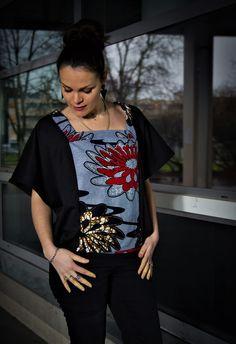 All by.K - Créatrice de Vêtements et Accessoires - All by.K, le site! African Dresses Men, African Tops, African Attire, African Wear, African Style, African Print Fashion, Ethnic Fashion, Kimono Fashion, Fashion Prints