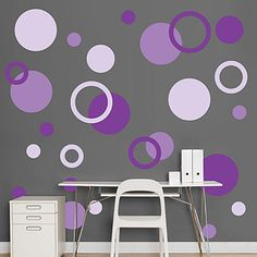 Purple Polka Dots - Polka Dots - Home Decor Graphics