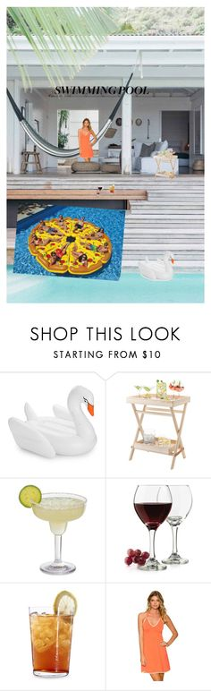 """""""pool party"""" by aliceyao08 ❤ liked on Polyvore featuring interior, interiors, interior design, home, home decor, interior decorating, Funboy, LSA International, Libbey and Schott Zwiesel"""