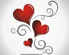 Fondos de corazones para imprimir