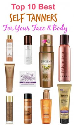 top 10 best self tanners for your face and body